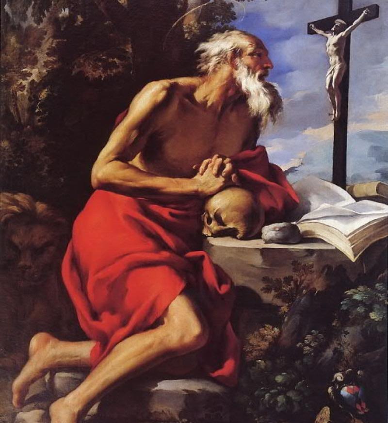 St. Jerome by Alessandro Gherardini