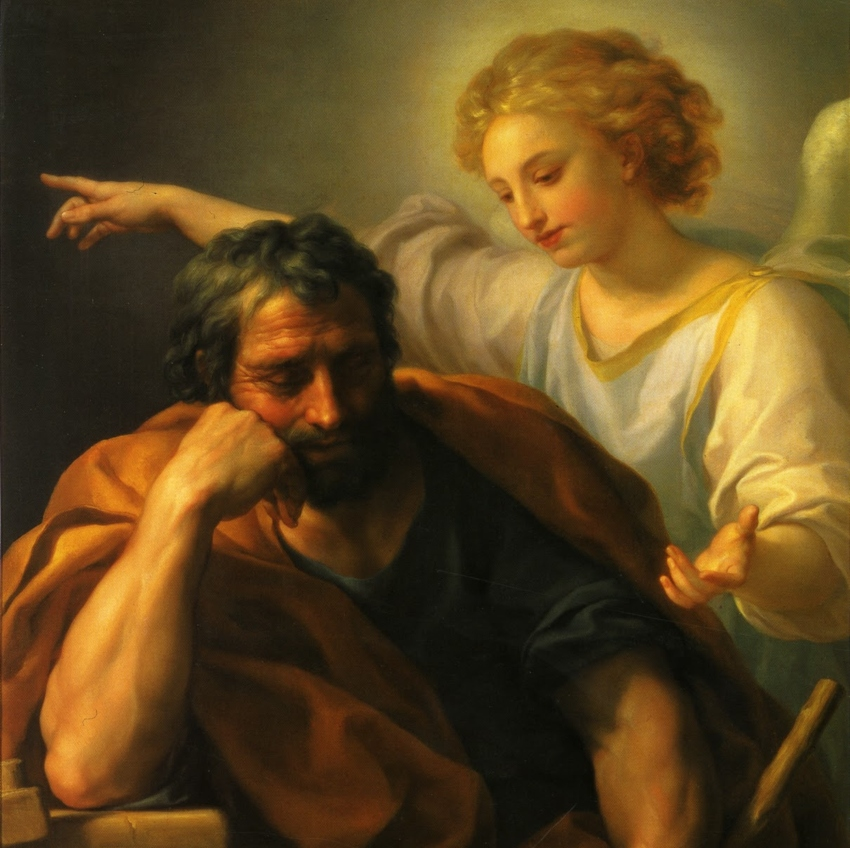 The Dream of St. Joseph by Anton Raphael Mengs, 1773