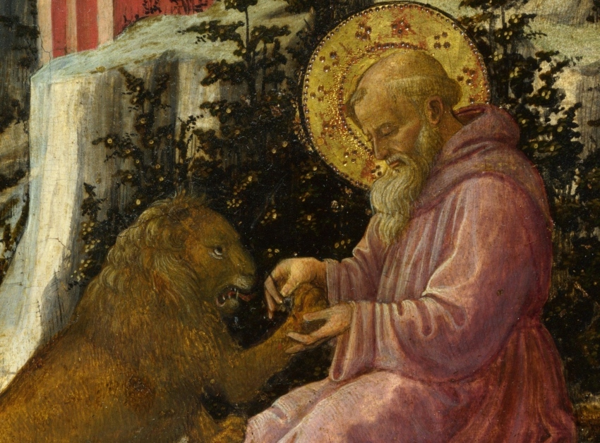 St. Jerome and the Lion by Fra Filippo Lippi