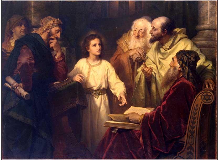 Jesus in the Temple by Heinrich Hofmann, 1881