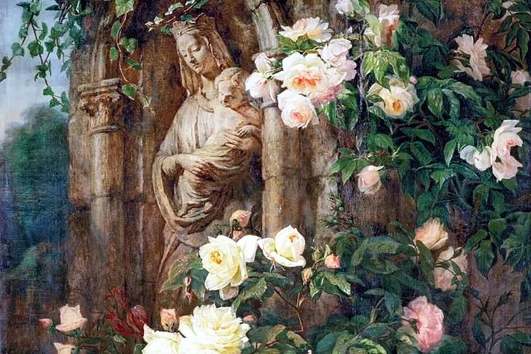 Our Lady of the Roses by Simon St-Jean (1850)