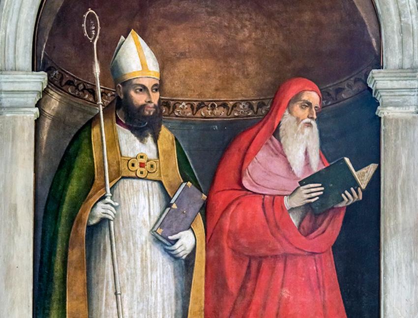 St. Jerome and St. Augustine by Girolamo da Santacroce
